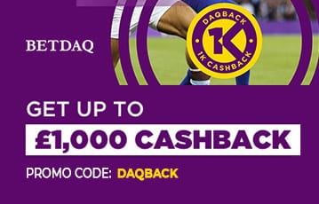 Betdaq up to £1000 cashback offer