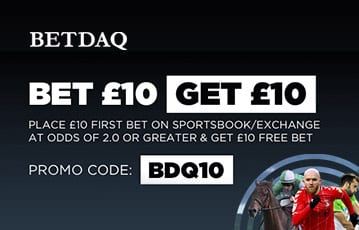Betdaq £10 bonus bet offer