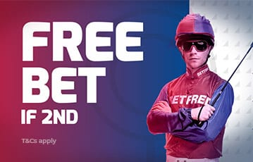 Betfred bonus bet if second horse racing offer