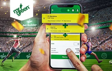 Mr Green Bet Builder on mobile